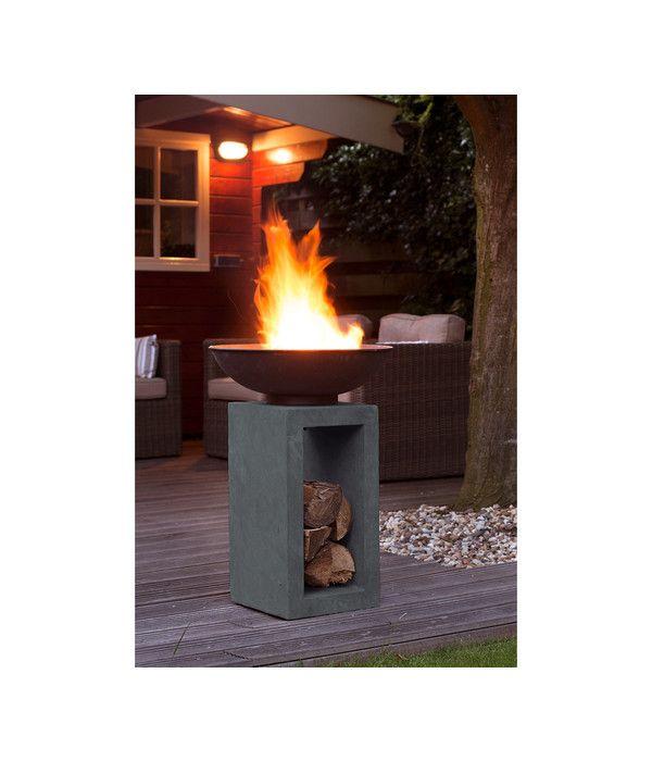 Feuerschale Cadiz Dehner Outdoor Feuerstelle Feuersaule Feuerschale