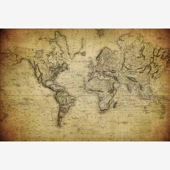 Historische wereldkaarten, ook in groot formaat verkrijgbaar.