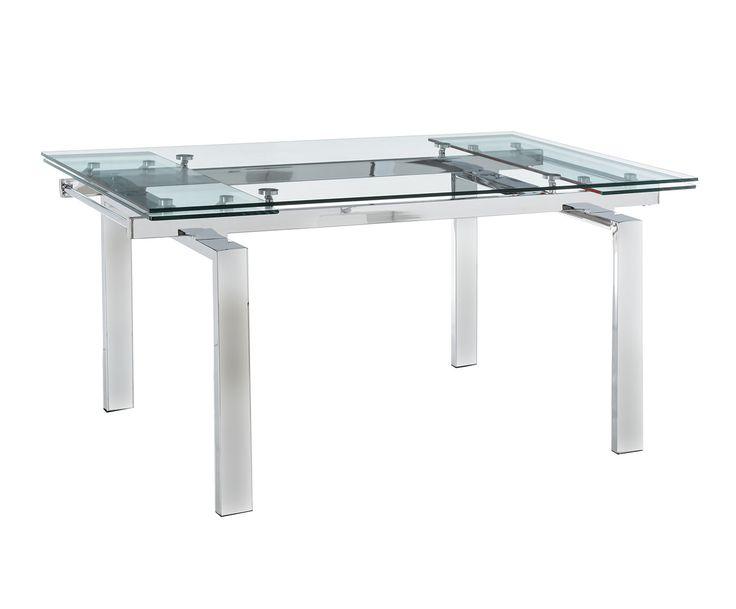 Mesa de comedor extensible en metal y cristal templado Style | Westwing Home & Living