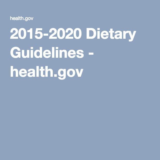 2015-2020 Dietary Guidelines - health.gov