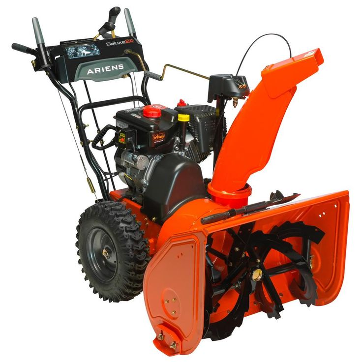 Ariens Deluxe 24 in. 2-Stage Electric Start Gas Snow Blower with Auto-Turn Steering-921045 - The Home Depot
