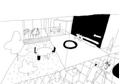 SANAA, Competition Sketches in arcspace Architect's Studio. The sketches made by Ryue Nishizawa, the De Kunstliné Theatre and Cultural Centre, Almere, The Netherlands.