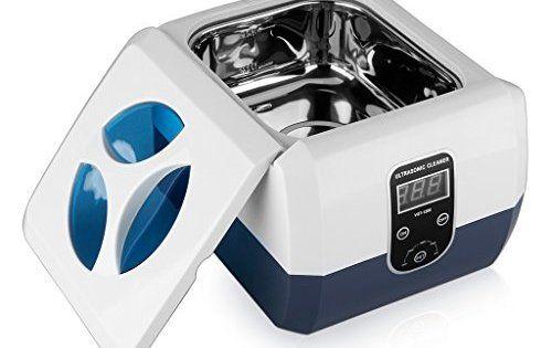 Floureon 1300ml Nettoyeur professionnel à Ultrasons Affichage Numérique en acier inoxydable et Plastique: 1300 ml capacité du réservoir…