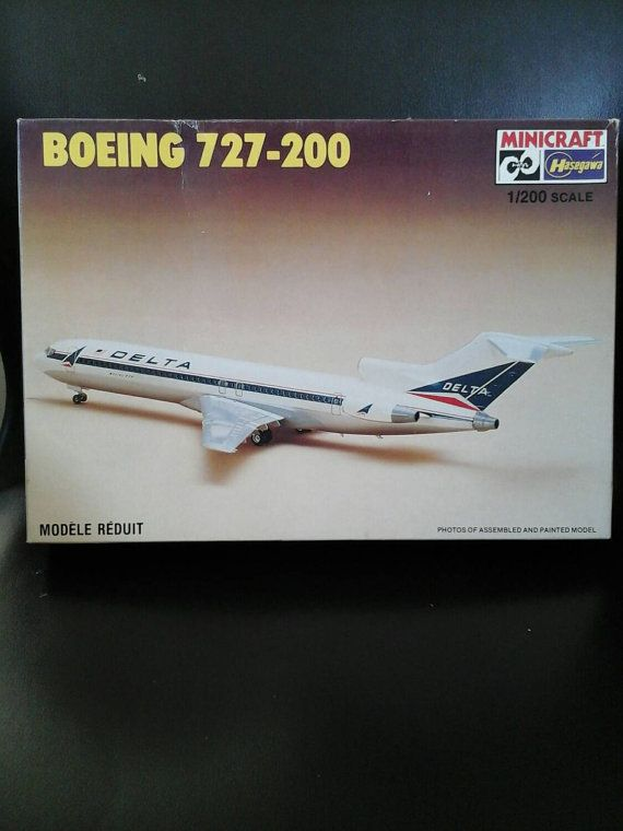 Model Airplane Boeing 727 Airliner 200th Scale by RolandDressler
