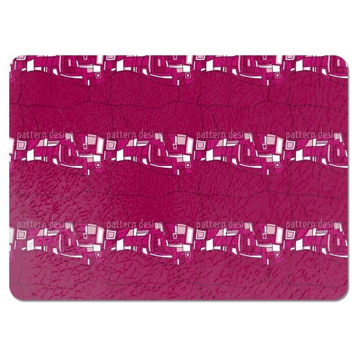Uneekee Stilismo Pink Placemats (Set of 4) (Stilismo Pink Placemat)