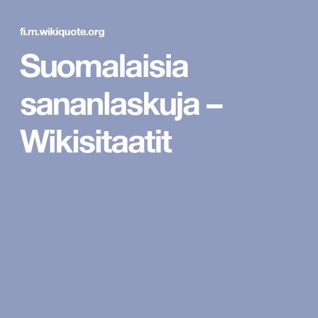 Suomalaisia sananlaskuja – Wikisitaatit
