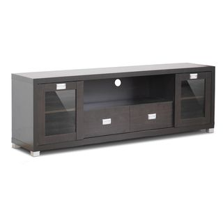 Gosford Brown Wood Modern TV Stand | Overstock™ Shopping - Great Deals on Baxton Studio Entertainment Centers