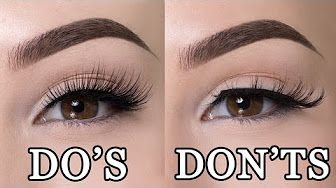 How to put on false eyelashes TRICK - YouTube