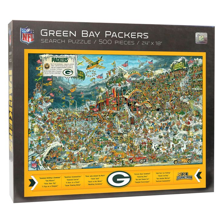NFL Green Bay Packers 500pc Find Joe Journeyman Puzzle