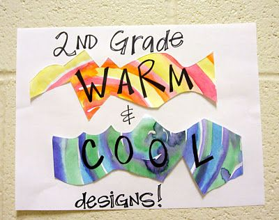 Warm and cool art project. - will be doing after break