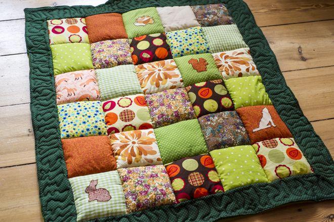 diy eine krabbeldecke f r ein baby anleitungen do it yourself babydecke diy kostenlose. Black Bedroom Furniture Sets. Home Design Ideas