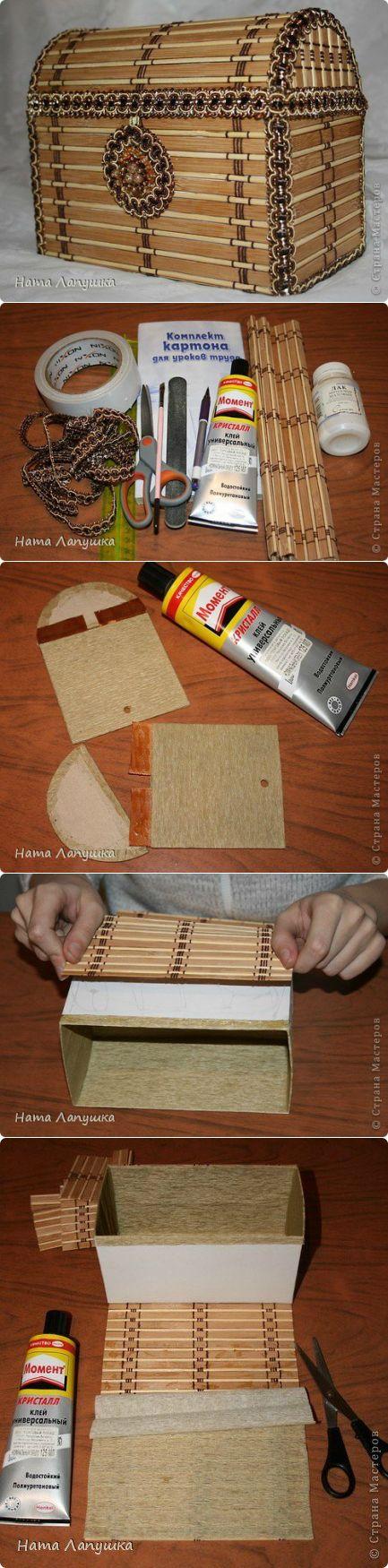 Сундук из деревянной салфетки. Мастер-класс