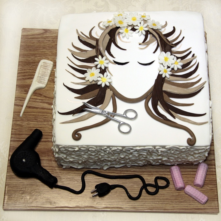 Hairdresser Birthday Cake