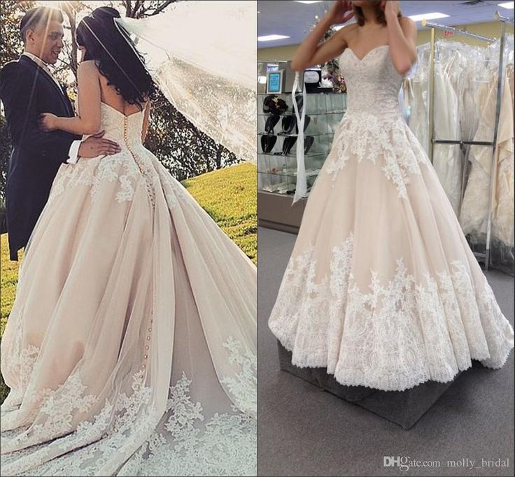 Luxury 2016 Full Lace Wedding Dresses Backless Bridal Gowns Sweetheart Applique Sweetheart Sexy Open Back Buttoned Zipper Wedding Dress Panina Wedding Dresses Vintage Dresses Online From Molly_bridal, $158.83  Dhgate.Com