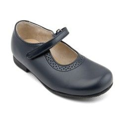 School Shoes: Navy Blue Leather Girls Riptape Classic Shoes http://www.startriteshoes.com/school-shoes
