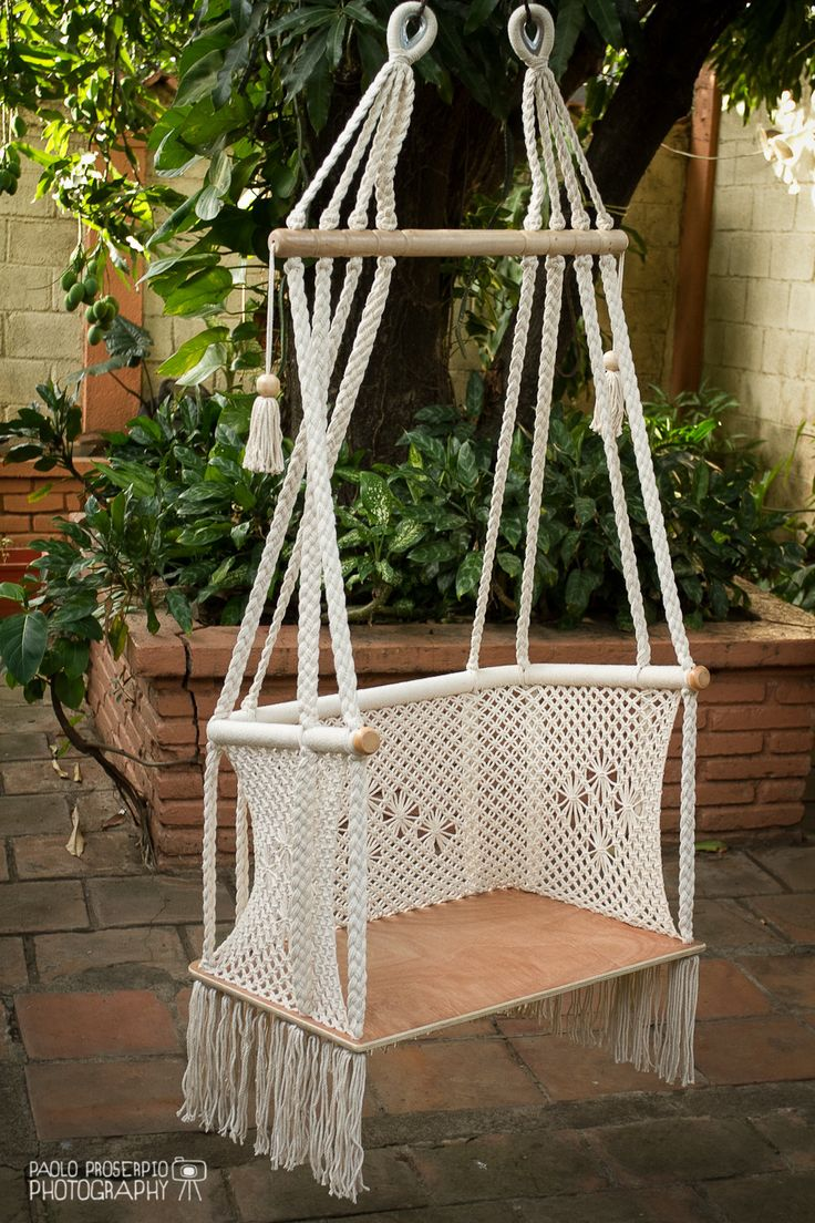 17 best ideas about macrame chairs on pinterest woven for Macrame hammock chair pattern