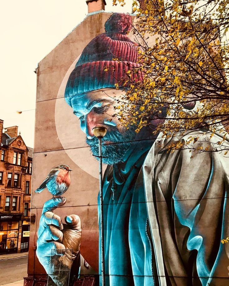 St. Mungo Mural, High Street, Glasgow, Scotland. Following the Glasgow Mural Trail. Fiona McNicol (@travellintale)