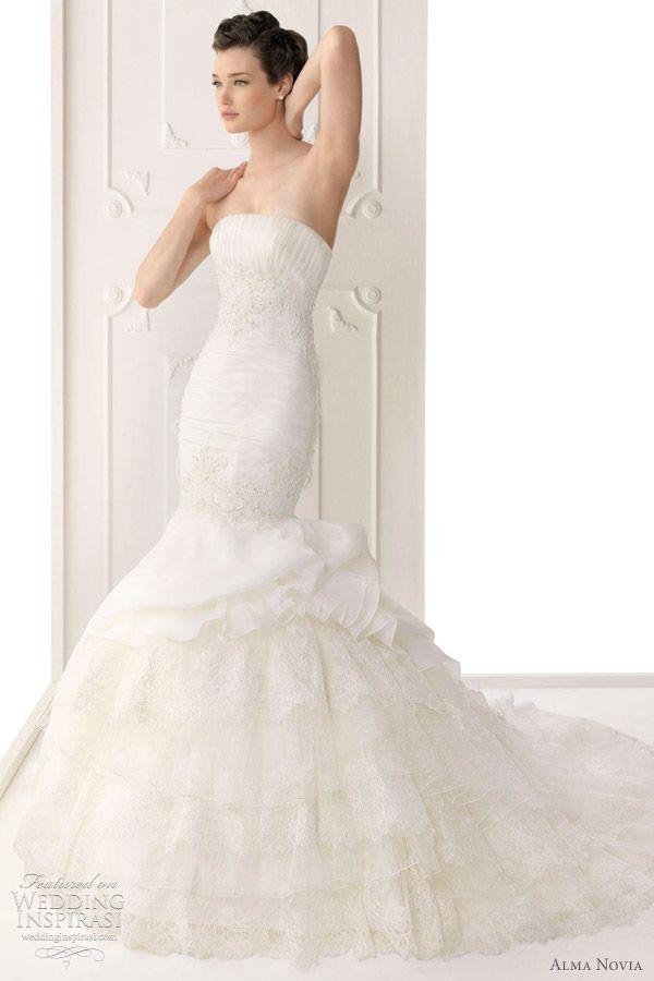 alma novia wedding dress 2012 - siria bridal gown