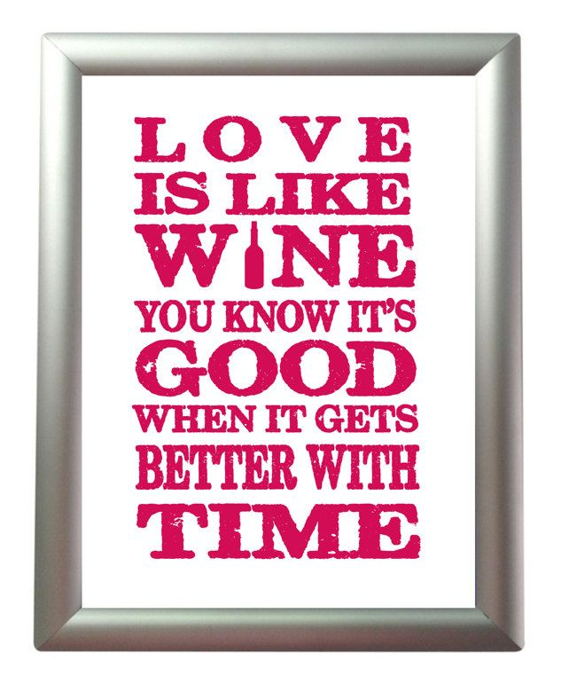 Wine art print wine lovers gift wine quote kitchen wall Gifts for kitchen lovers