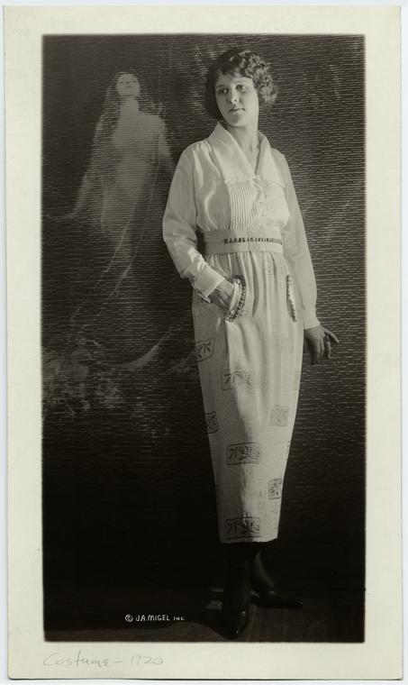 Woman in white blouse and skirt, 1920 NYPL