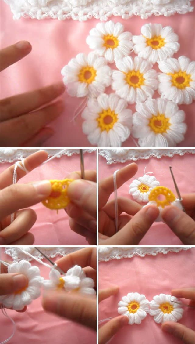 Flowers Blanket Crochet Pattern Tutorial