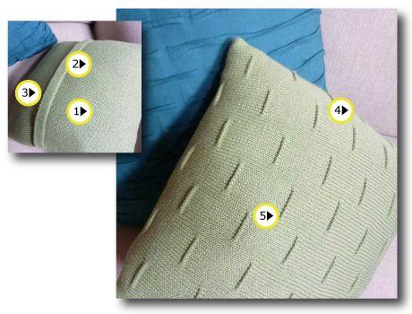 Machine Knit Pillow - Pintuck Pattern