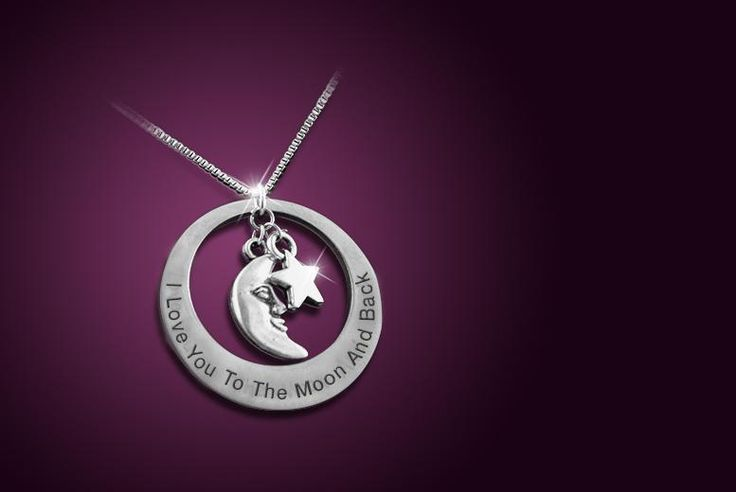 'I Love You to the Moon and Back' Necklace - 3 Colours!
