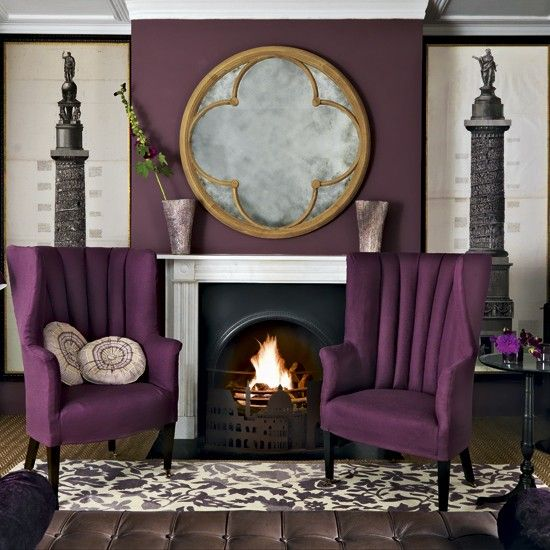 traditional-livingroom-with-purple-chair.love the purple chair. - 62 Best Images About Purple Living Room Ideas On Pinterest The
