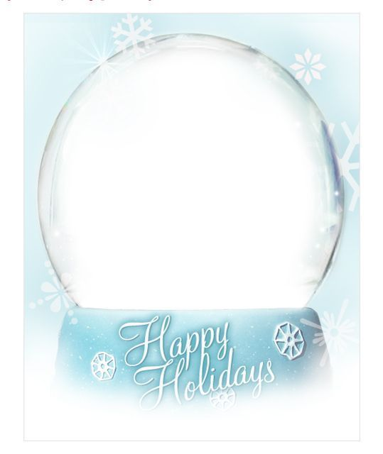 Send These Fabulous and Free Christmas Ecards for Everyone You Know: Happy Holidays Snow Globe by Group Card