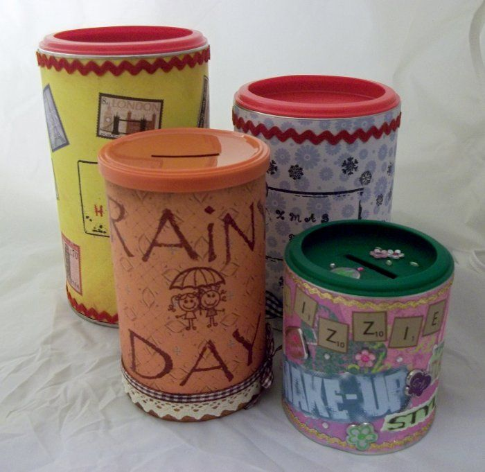 How to make a money box using bits and bobs.