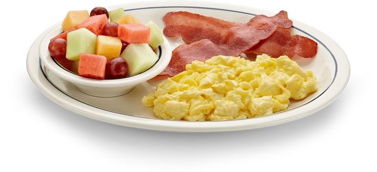 People are often surprised to learn that a breakfast of eggs, bacon and fruit keeps their energy higher and more consistent throughout the full morning unlike their typical oatmeal or cereal routine.