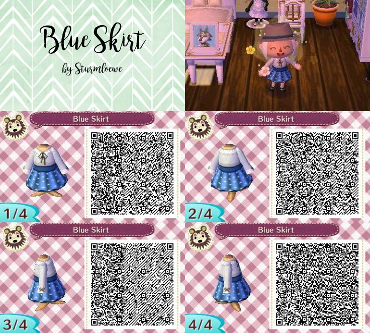 animal crossing new leaf qr code cute modern blue white grey dotted dress with bow outfit dots fashion mode clothes skirt and shirt acnl design by sturmloewe