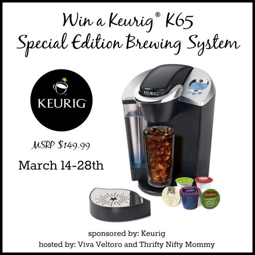 Keurig K65 Special Edition Brewing System Giveaway 3/28 - Newly Crunchy Mama Of 3