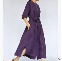 Новые продукты, перечисленные в летом 2016 года оригинальный дизайн высокого класса свободные большие ярдов меди аммиака шелковые платья женщин