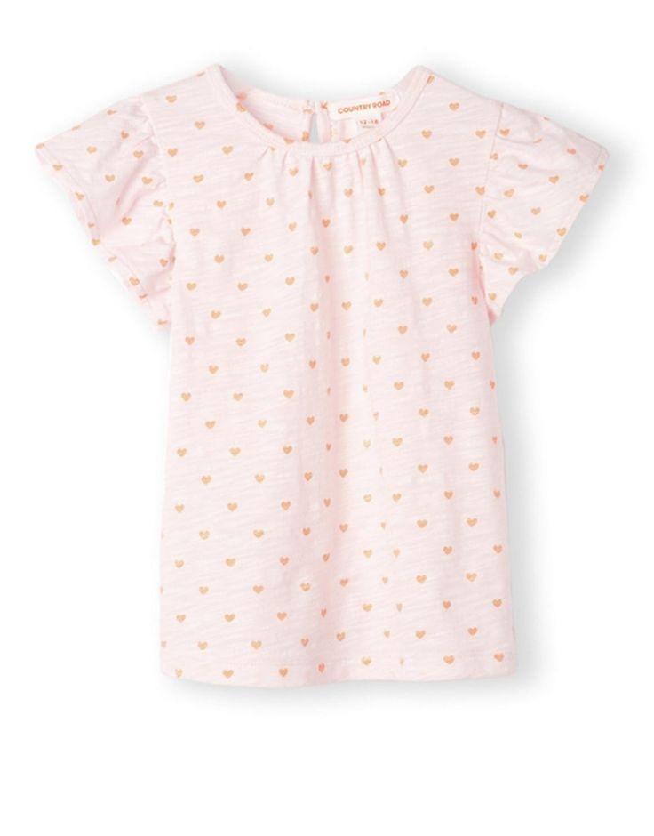 Heart Print T-Shirt
