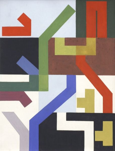 Sophie Taeuber-Arp -12 flächige Räume und winklige Streifen, 1938