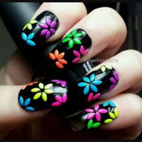 The black makes the flowers pop out