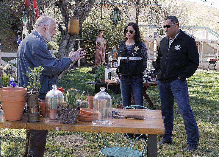 Laurence Fishburne, Jorja Fox, and Howard Hesseman in CSI: Crime Scene Investigation (2000)
