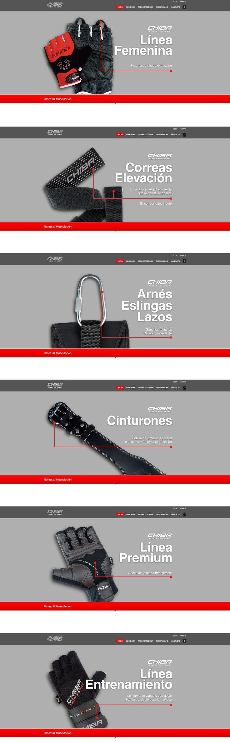 Chiba Guantes. Diseño de web. BANNERS. Eugenia Parra.  http://chiba.es http://eugeniaparra.es