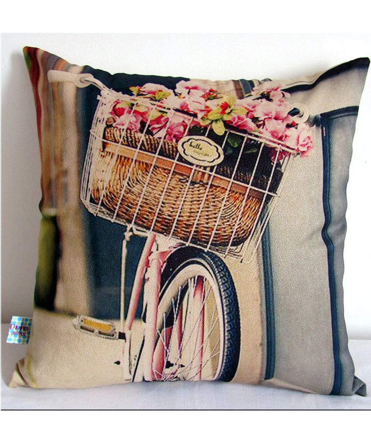 Regalos que encantan: Cojín Bicicleta y Flores en Dekosas.