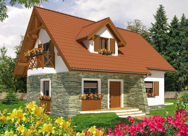 Proiecte de case cu mansarda, sub 100 de metri patrati