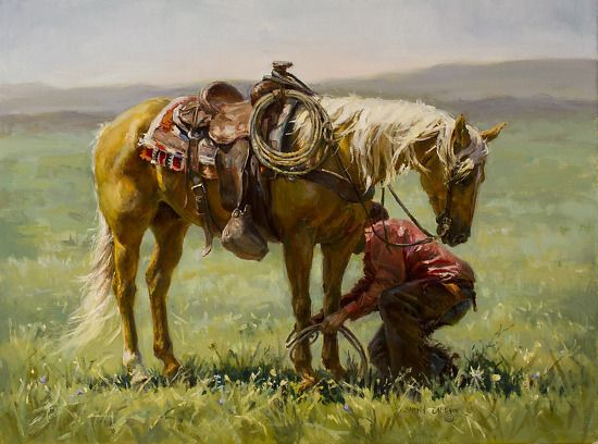 """The Master's Touch"" by Shawn Cameron Oil"