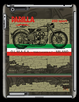 Parilla 250 Sport - custom iphone / ipad / ipod sensitive skins for your i-device. Unique bespoke designs by dennis william gaylor .:: watersoluble ::.