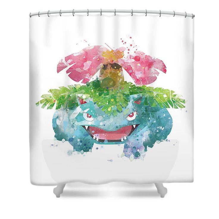 Pokemon Venusaur Shower Curtain #pokemon #pokemongo #home #showercurtain