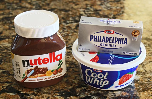 Whipped Nutella Mousse - this is not the picture of the dessert recipe I would have choosen - only 3 ingredients.