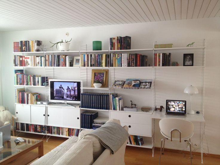 88 besten string libreria tv bilder auf pinterest arbeitszimmer mein haus und skandinavisches. Black Bedroom Furniture Sets. Home Design Ideas