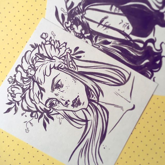 Here's a quick shot of my raffle sketches that I'll be randomly giving away to a…