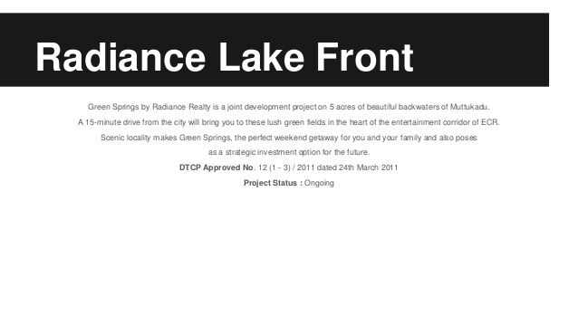#Radiance #Lake #front, more details here: http://bit.ly/1XRm3JC