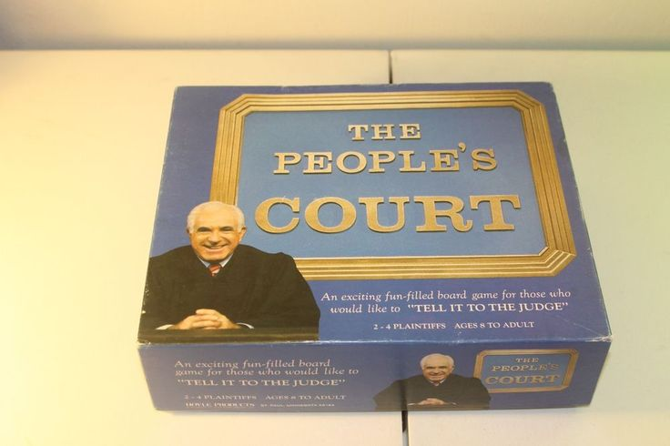 People's Court Board Game Hoyle 1986 Men & Women Ages 8 to adult Judge Wapner #HoyleProducts