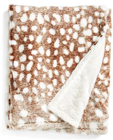 Kennebunk Home 'Doe a Deer' Throw; $58. This would be perfect in an RV as I am sure you get to see a lot of nature while Rving :)